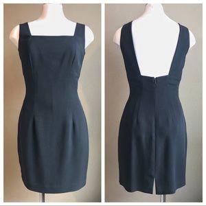Cache square neck black dress