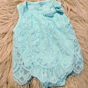 Other - Newborn baby blue Lace dress