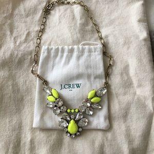 Jcrew neon statement necklace