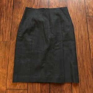 J. Crew Grey Wool Skirt Size 4