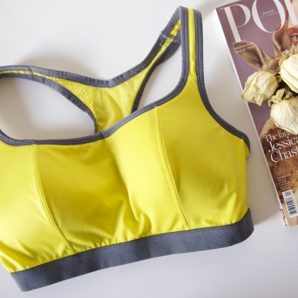 67d013335a5f Modern Movement Intimates & Sleepwear | Yellow T Back Sports Bra ...