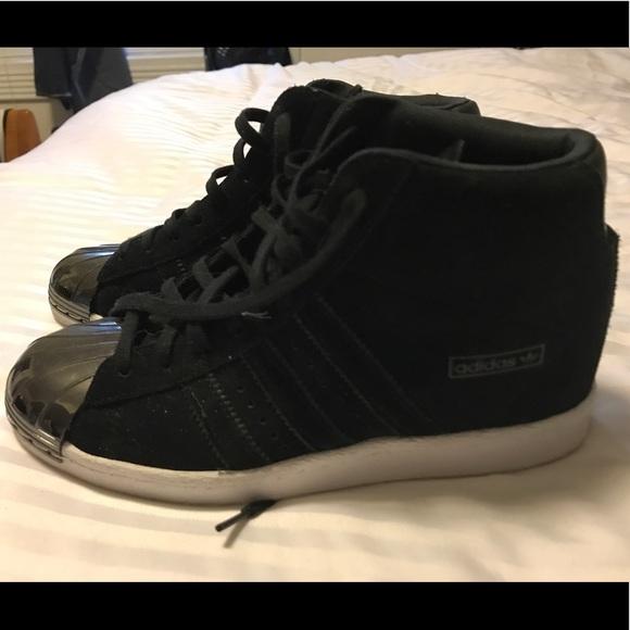 Inicialmente Seguir Pogo stick jump  adidas Shoes | Adidas Superstar Up Metal Toe Black Size 75 | Poshmark