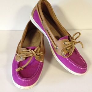 Sperry Top Sider shoes purple linen 6 1/2