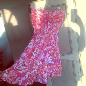 Lilly Pulitzer strapless sundress