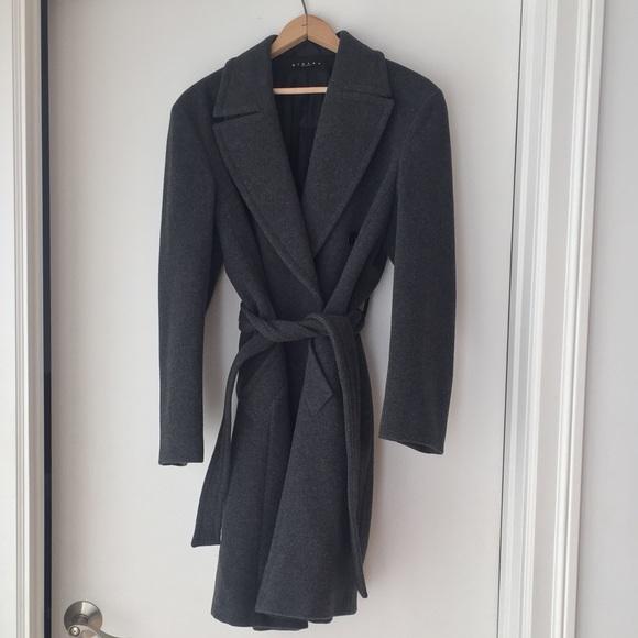 Sisley Wool Double Breasted In amp; Jackets Poshmark Coat Gray Coats qAvt8qnwr