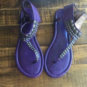 Report Anja Purple Sandals