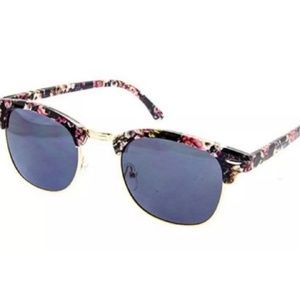 Accessories - Black and Pink Floral Sunglasses (With Pouch)