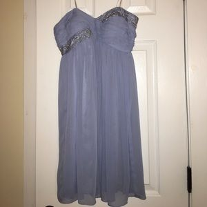 Maggy London strapless beaded dress Size2P (EUC!)