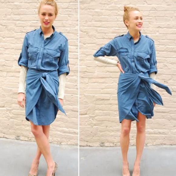 Isabel Marant Dresses & Skirts - Etoile Isabel Marant Cotton-chambray shirt dress