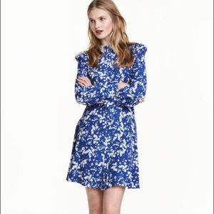 Gorgeous Blue Floral Shirt Dress SZ 10