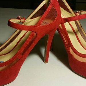 Red Suede Nine West Shoes