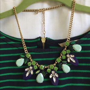 New w/bag J. Crew blue green adjustable necklace
