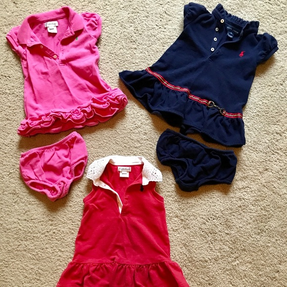 b8682413 Ralph Lauren Baby Girl Dresses, Lot of 3, 9 mos