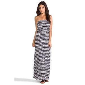 Velvet Glory Aztec Striped Strapless Maxi Dress