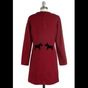 Mod Raspberry Red Scottie Dog Coat