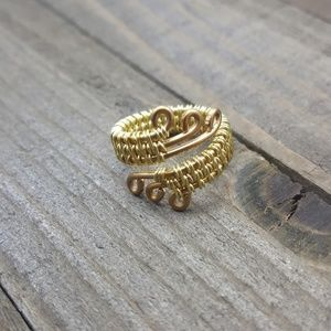 Gold Wire Wrapped Ring Handmade Any Size