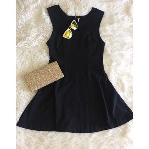 FREE PROPLE black sleeveless skater dress