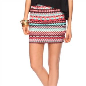 Printed Skirt Bright Bodycon Style