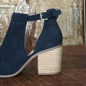 Shoes   Navy Blue Peep Toe Booties