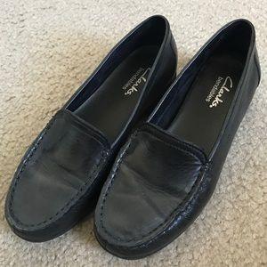 Clarks Black Loafers