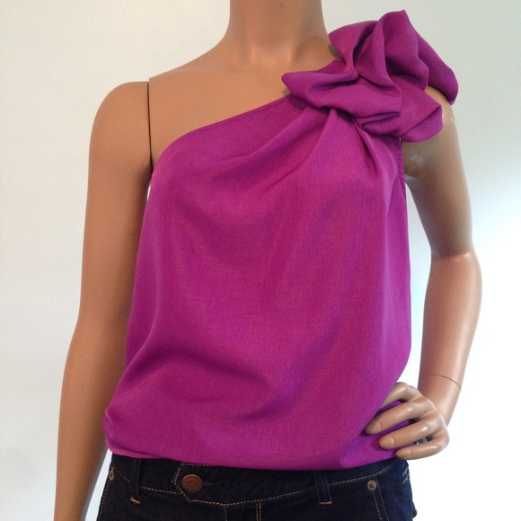 16d61ed1665520 Dressy One Shoulder Top from The Limited. M_597554a1fbf6f9f7d3055f4a