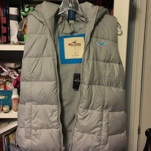 Hollister Grey Vest with zipper
