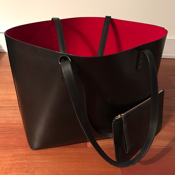 Mansur Gavriel Handbags - Mansur Gavriel Large leather tote, red interior
