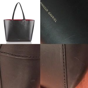 Mansur Gavriel Bags - Mansur Gavriel Large leather tote, red interior
