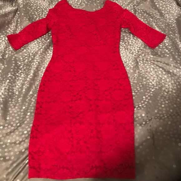 Laundry By Shelli Segal Dresses   Skirts - Womens Laundry Red Lace Dress 88bf2caeed