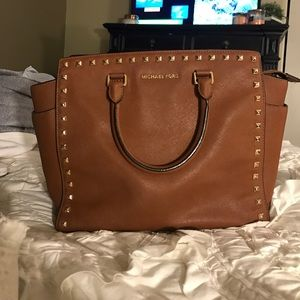 Women's Studded Brown Michael Kors Handbag on Poshmark