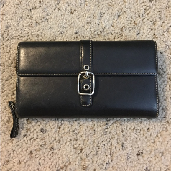 Coach Handbags - Coach Wallet - Smooth Black Leather