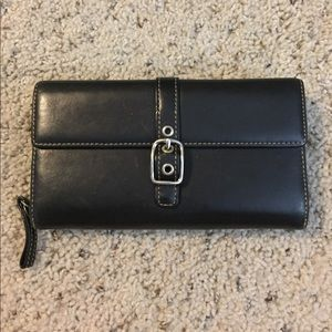 Coach Wallet - Smooth Black Leather