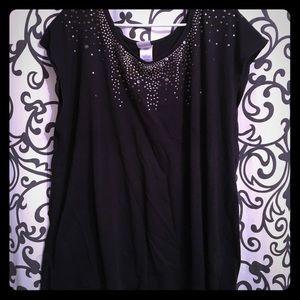 Black stud shirt