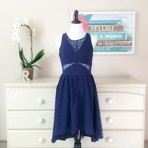 ❤️ High Low Dress with Lace Insets