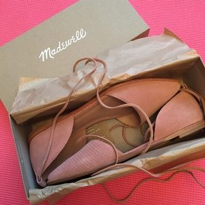 Madewell Blush Pink Suede Flats