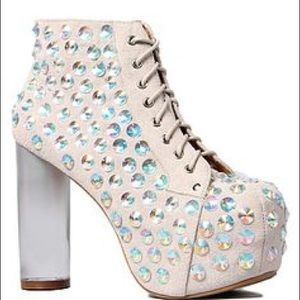 Jeffrey Campbell jeweled gradient Lita boot