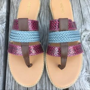 Snakeskin Leather Thong Sandals! NEW!