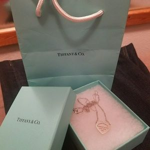Tiffany & Co Double Chain Heart Necklace.