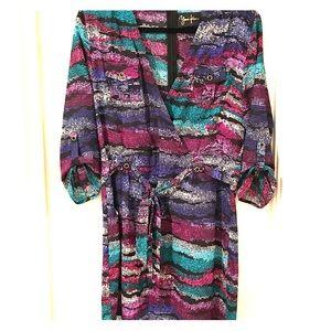 Yumi Kim Multicolor Dress w/ tie NWT Size Medium