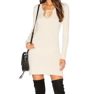 NWT For Love & Lemons KNITZ Delancey Mini Dress