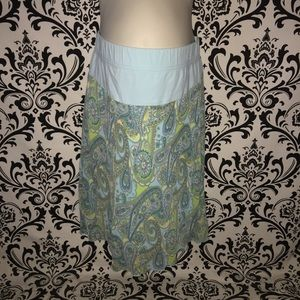 Motherhood Maternity paisley skirt size small