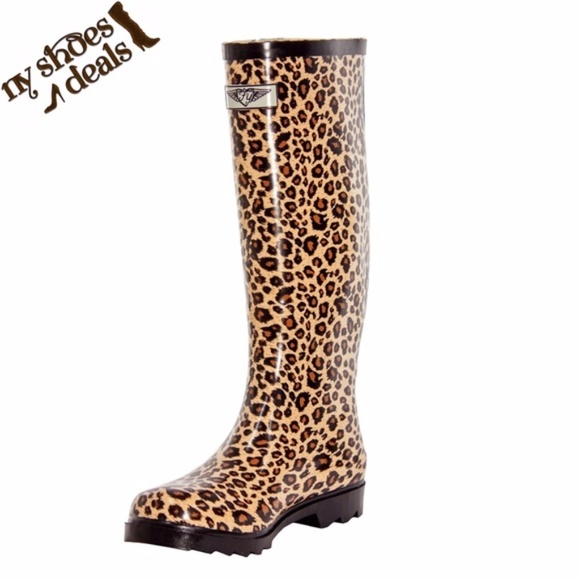 6f69491ea Women Animal Print Rubber Rain Boots RB-1402. Boutique. Forever Young