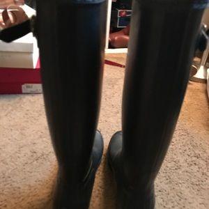 Hunter Boots Shoes - Black Hunter Boots