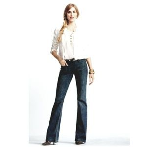 CAbi #183 Denim Wide Leg Trousers, Size 4