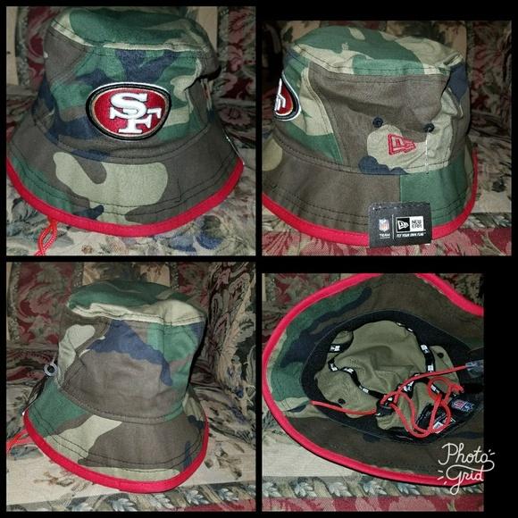 989fe03dc San Francisco 49ers camoflage bucket hat sizes med