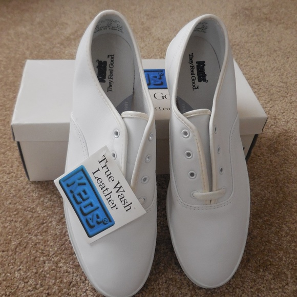 891afd2f3afd1 Keds Women Champion Leather White Sneakers 10W