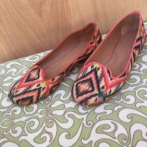 Shoes - Tribal print flats size 7