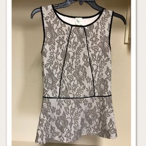 Tops - Anthropologie Lace Peplum Tank