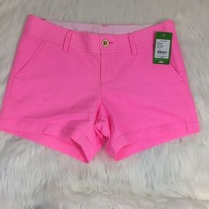 Lilly Pulitzer Callahan shorts in pink pout 6 NWT