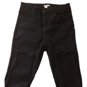 Forever 21 high waisted all black jeans